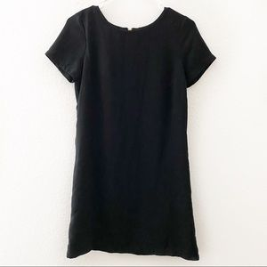 Lulu's | Black Shift and Shout Short Sleeve Dress